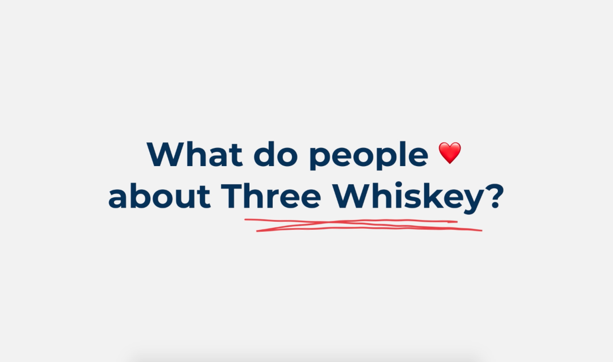 Working at Three Whiskey